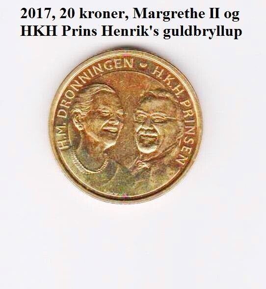 Danmark, mønter, 20 kr.
