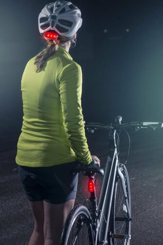 2Pcs LED Safety Lights Refective Gear Night Running Cycling Jogging Bike Tail