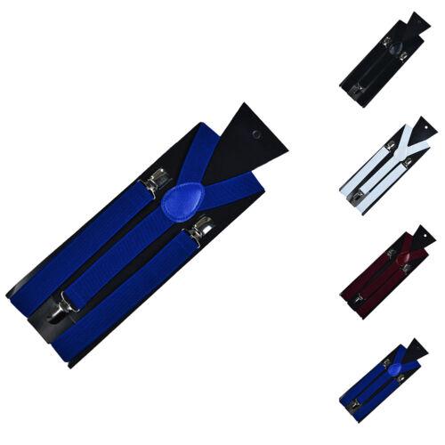 Y-Form Elastische Hosenträger Clips verstellbar Herren Damen Unisex 100cm