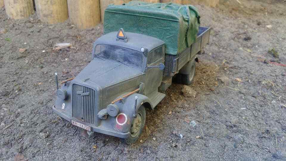Tamiya  Opel Blitz WW II  Museumsqualität gebaut built 1 35