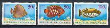 Indonesië Zonnebloem  731 - 733 postfris  motief dieren / vissen