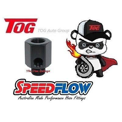 "SpeedFlow Port 1//8""NPT Thread M16 x 1.5 Metric Oil Sender Adapter 810-M16-02-BLK"