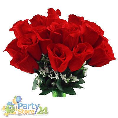 Rose Rosen Kunstblume mit Schleierkraut Party Hochzeit Valentinstag Bauchladen