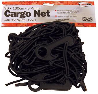 MEDIUM Car, Motorbike & Trailer Elasticated Bungee Luggage Cargo Net (12 Hooks)