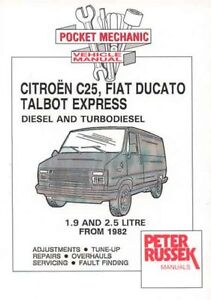 citroen c25 fiat ducato talbot express peugeot j5 diesel td 1 9 rh ebay co uk Citroen 2CV Hot Rod