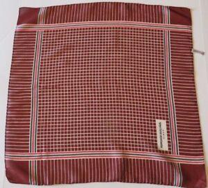 Jean-Louis-Scherrer-Paris-1970s-Silk-Scarf-Brown-grid-pattern