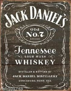 image is loading weathered jack daniels licensed tin sign reproduction bar - Bar Wall Decor