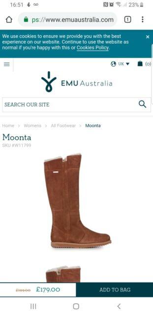 4b72c91fb88 EMU Australia Moonta Womens Waterproof Sheepskin Boots SIZE 5 UK NEW  RRP179£ !!