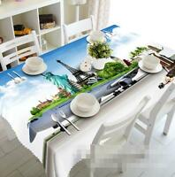3d Tourist Sites Tablecloth Table Cover Cloth Birthday Party Event Aj Wallpaper