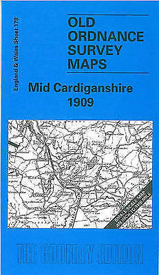 OLD ORDNANCE SURVEY MAP Mid Cardiganshire 1909: One Inch Sheet 178