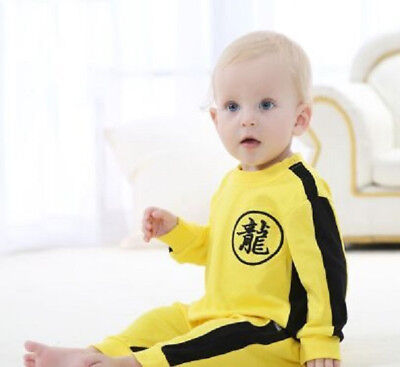 Loong Print Clothes New Toddler Cool Baby Fashion Boys Romper Bruce Lee Jumpsuit