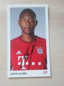 AK David Alaba + 2015/16 Bayern München + AUTOGRAMM 15/16 + AUTOGRAMMKARTE