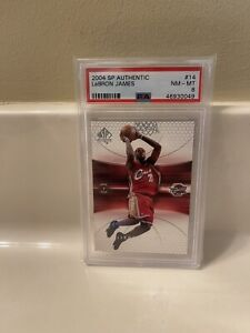 2004 Lebron James UD SP Authentic PSA 8 Cleveland Cavaliers 2nd Year #14