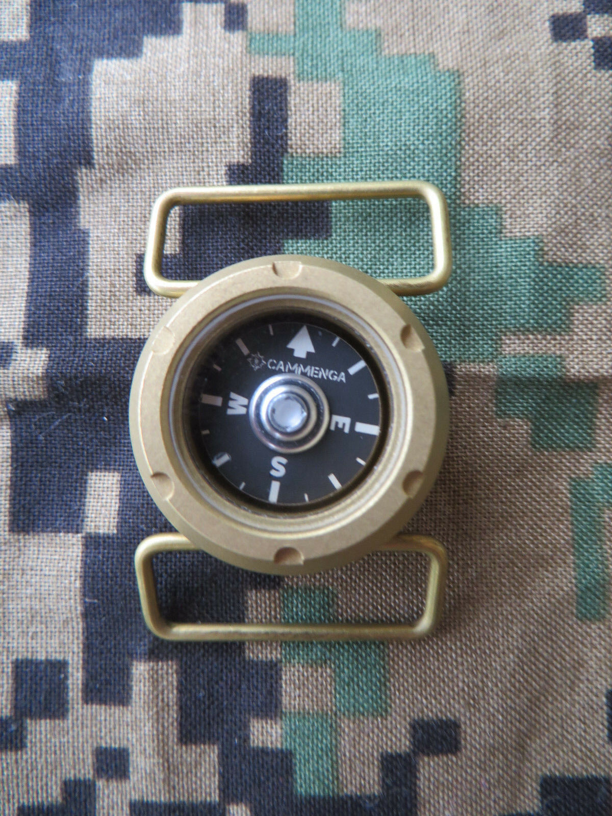 CAMMENGA BRASS WATCH COMPASS - MADE IN USA - MODEL WC10 - 100 METER - FEB. 2019