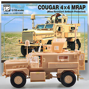 panda 1 35 cougar 4x4 mwrap mine resistant ambush protected model kit ebay. Black Bedroom Furniture Sets. Home Design Ideas
