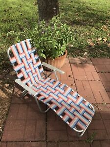Vintage Child S Aluminum Chaise Lounge Reclining Lawn