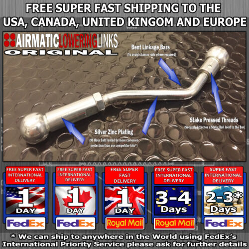 MERCEDES S CLASS S320 S500 W220 AIRMATIC LOWERING KIT LINKS LINKAGES