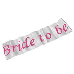 White-amp-Pink-Bride-to-be-Sash-Girls-Hen-Night-Bachelorette-Bridal-Shower-PartyEP
