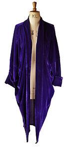 Baylis-Knight-Purple-Velvet-Duster-Coat-Oversize-Boho-Retro-Festival-opera