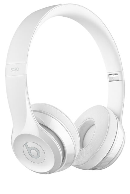 NEW Beats by Dr Dre Solo 3 Wireless On-Ear Headphones - Gloss White