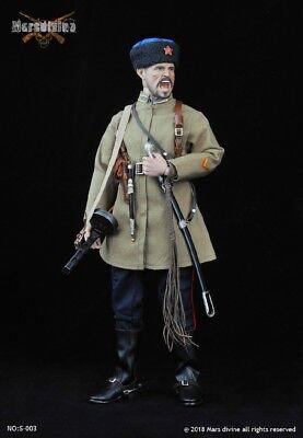 Marsdivine No:S003 1//6 WWII Soviet Cossack Cavalry Uniform Clothing Weapon Set
