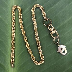 Antiguo De Colección Reloj de oro de 10k Cadena Pulsera Collar + Broche no chatarra de 4.4 Gr