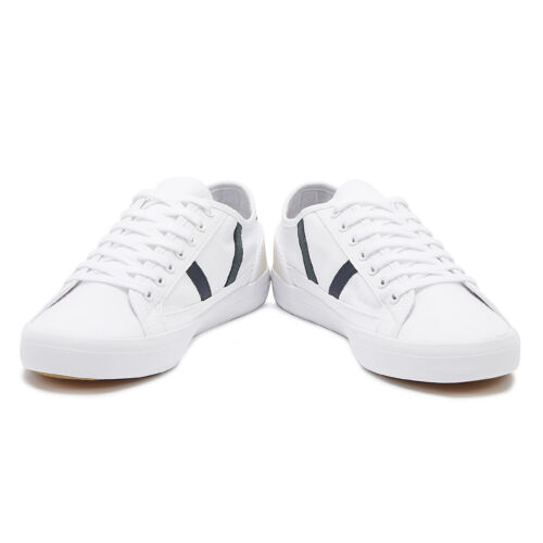 Lacoste Sideline 319 4 Mens White Dark Green Trainers Sport Casual Shoes