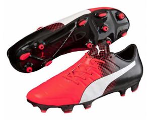 PUMA evoPOWER 2.3 FG Mens UK 9.5 EU44 Red Blast Black Football Boots ... e4c7352d0798