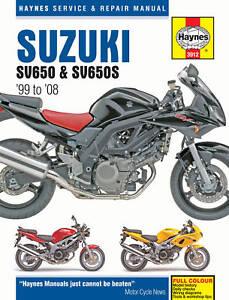 Suzuki SV650 SV650S 1999-2008 Haynes Manual 3912 NEW