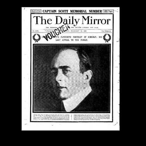 Dollshouse Miniatura periódico-Daily Mirror 1913-Scott del Antartico