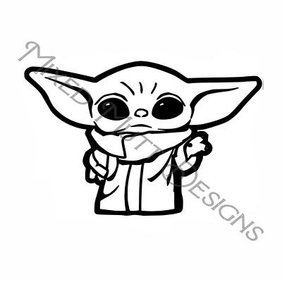 "Baby Yoda Star Wars The Mandalorian Vinyl Decal Window Sticker 6/"" x 6.5/"""