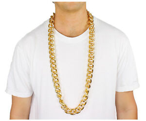 40-034-Heavy-Rope-Link-GOLD-Pimp-CHAIN-OLD-SCHOOL-RAPPER-Costume-Bling