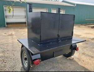 Square-Weekender-BBQ-Smoker-48-Grill-Trailer-Food-Truck-Mobile-Kitchen-Business