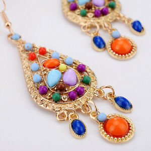 Vintage-Dangle-Hook-Drop-Dangle-Tassel-Boho-Long-Fashion-Women-Bohemian-Earrings