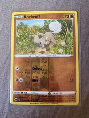 Pokemon Rockruff - 029/073 Champions Path Reverse Holo Common *