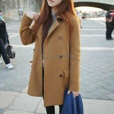 Gap Womens Camel Double Breasted Button Wool Peacoat Coat Jacket ...