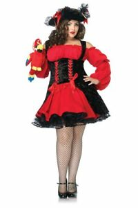 234cbb62b8202 Womens Plus Size Sexy Vixen Pirate Wench Dress Roleplay Costume