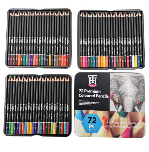 72 High Quality Vibrant and Durable Colored Pencils Premium Colored Pencils