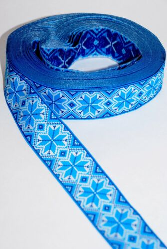 "Blue Ukrainian Decorative ribbon /""Tesma/"" by yard Medium"