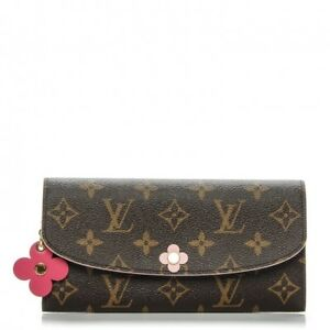 Images For Louis Vuitton Made In France >> Details About Brand New Louis Vuitton Monogram Bloom Pink Flower Emilie Wallet Made In France