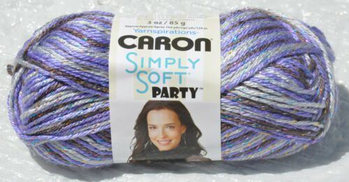 New /& Smoke Free Home Caron Simply Soft Party in Violet Variegated #0021