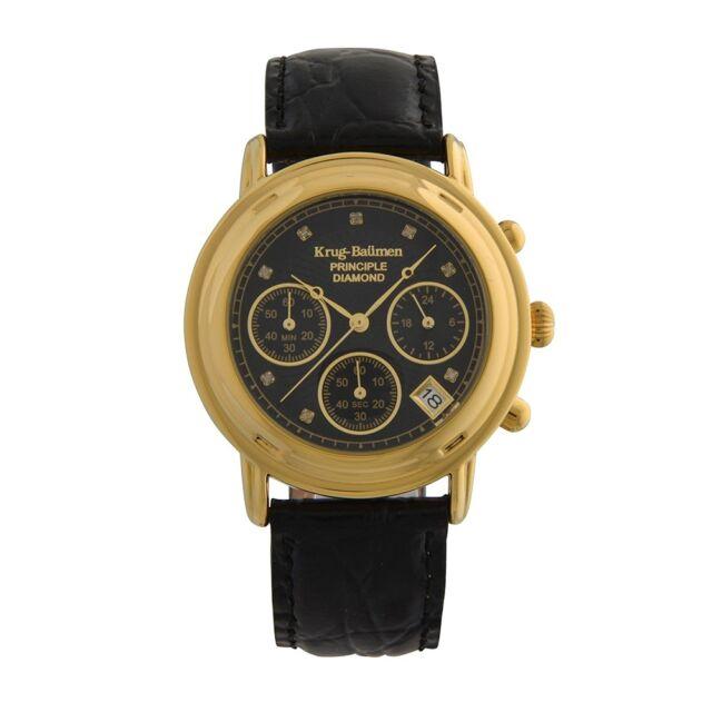 Krug Baumen 150573DM Mens Principle Diamond Chronograph Watch