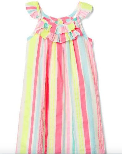 BABY GAP STRIPED FLUTTER SLEEVE RUFFLE DRESS 12-18M 5T NWT