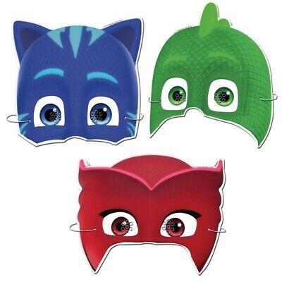 Pj Masks Dress Up Card Masks Fancy Dress Party Bag Fillers Face