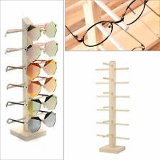 Wood Sunglasses Eyeglass Rack Glasses Display Stand Holder Organizer Tray Frame