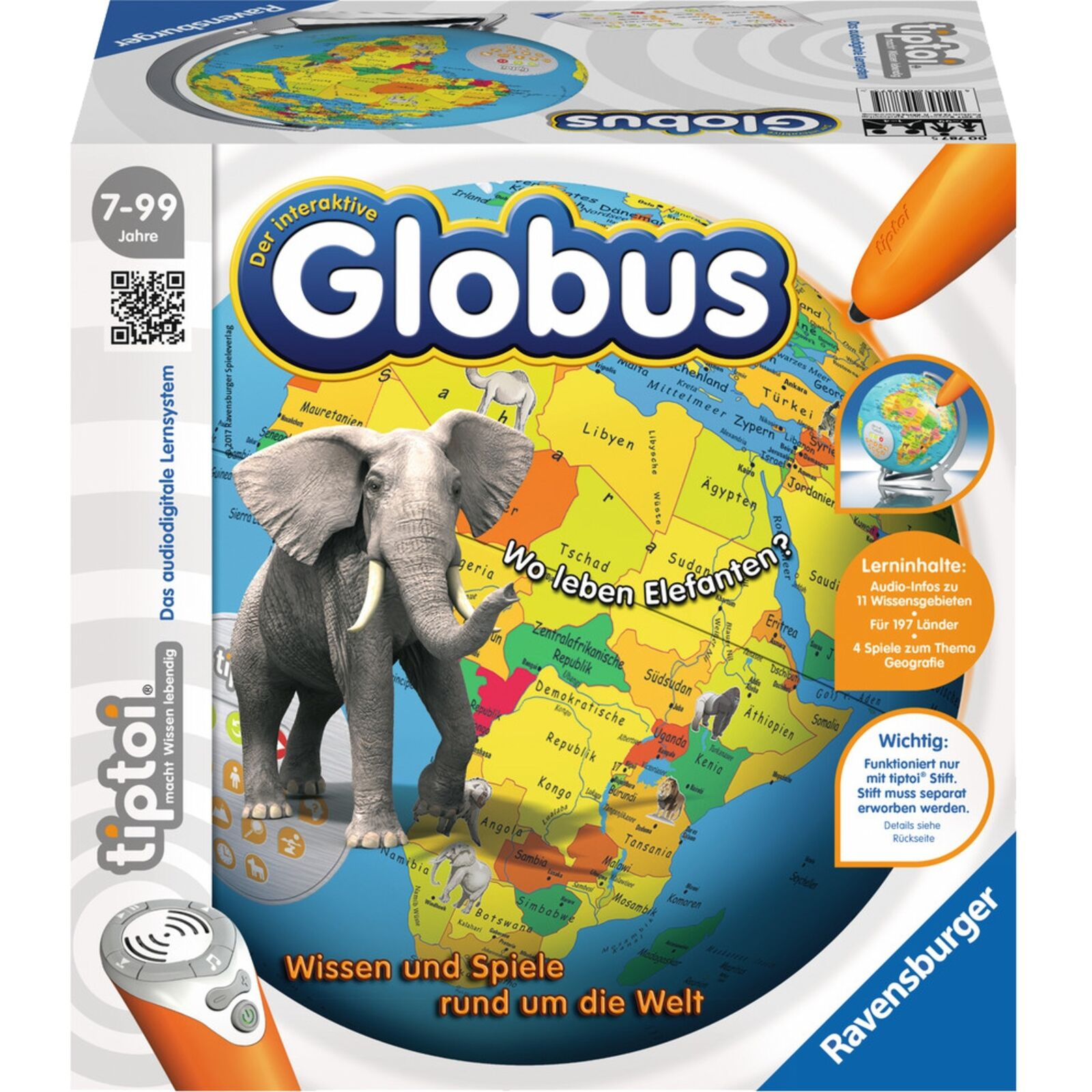 Ravensburger tiptoi Der interaktive Globus, Lerncomputer