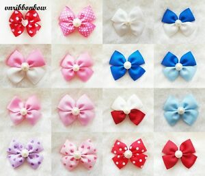 GO GLITTER Handmade Girl Kids Children Hair Accessories Ribbon Bows Clip Bobble