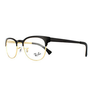38670efb60 Ray-Ban Glasses Frames 6317 2833 Top Black On Matte Gold Mens Womens ...
