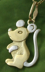 Sassi-GP1465-Ladies-375-9ct-Yellow-Gold-Mouse-Sunray-Pendant-Only