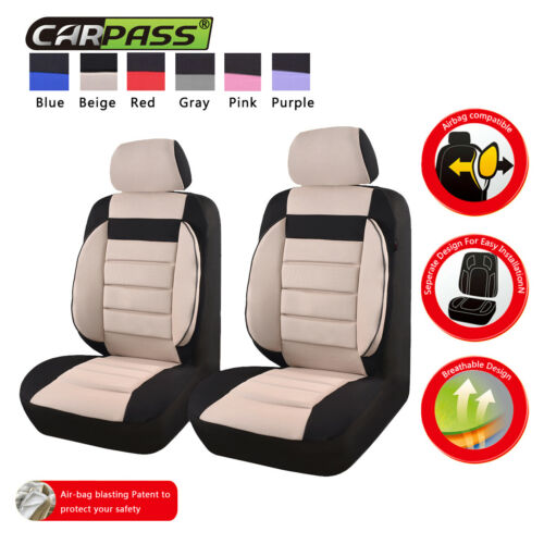 CAPASS Colorful Cotton Six Colors 2 Front Seat Cover for Universal Car Truck Suv